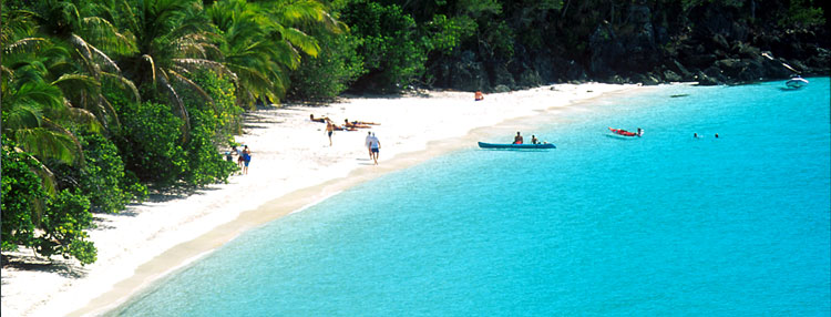 Crystal CLear Blue Water St John Beaches